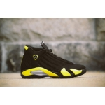 2014 cheap 487471-070 nike Air Jordan retro 14 Thunder black vibrant yellow-white