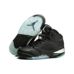 2014 pre order  599581-003 Air Jordan 5 Retro 3Lab5 Black-Black-Metallic Silve for women